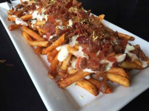 Bleu Cheese Fries on a plate