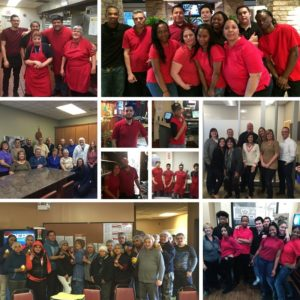 Darien Employees in Red T-Shirts