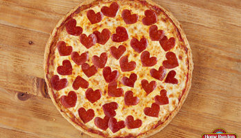 heart shaped pepperonis