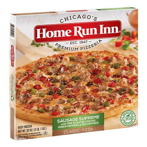 Frozen HRI Classic Sausage Supreme Pizza with Fire Roasted Onions