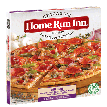 frozen ultra thin deluxe pizza