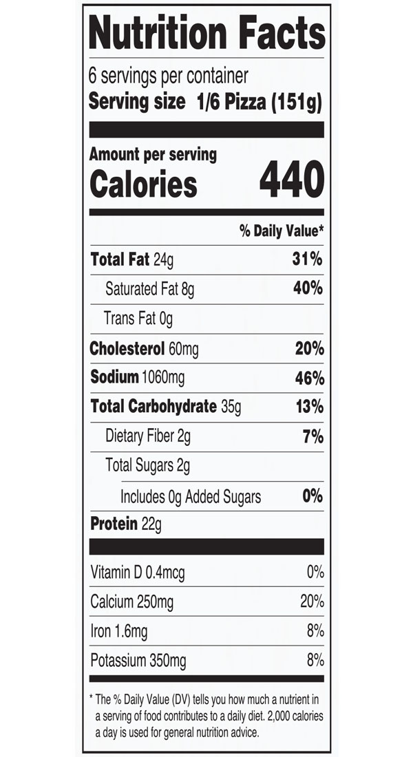 Nutritional Facts for 12 inch Home Run Inn Signature Meat Lovers Frozen Pizza