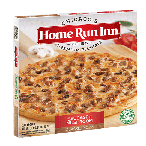 12″ Frozen HRI Classic Sausage and Mushroom Pizza