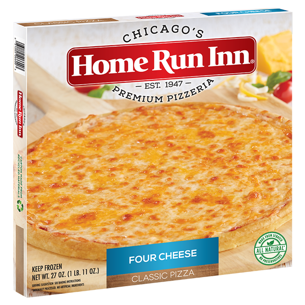 Home Run Inn Pizza Classic Four Cheese Pizza Box