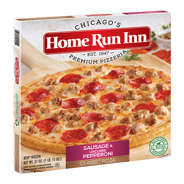 Home Run Inn Classic Sausage & Pepperoni Frozen Pizza Box