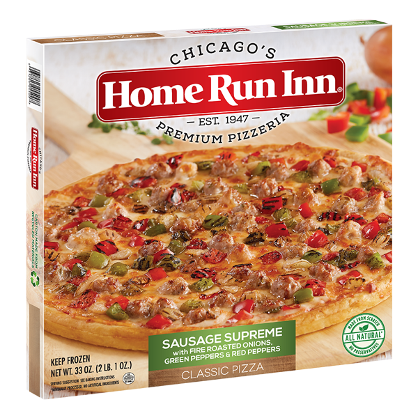 Home Run Inn Classic Sausage Supreme Frozen Pizza Box