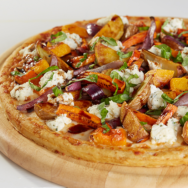 Autumnal Roasted Vegetables with Herbed Ricotta Cheese Pizza Recipe