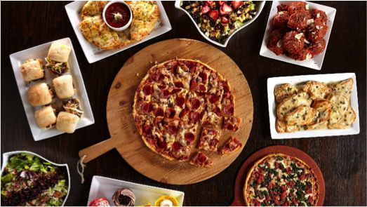 chicago's best pizza surrounded by other hri menu items