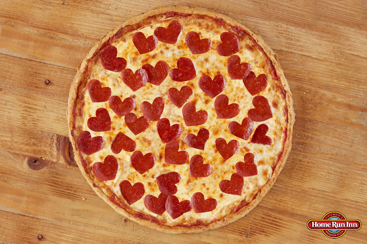 Heart Shaped Pepperonis Pizza