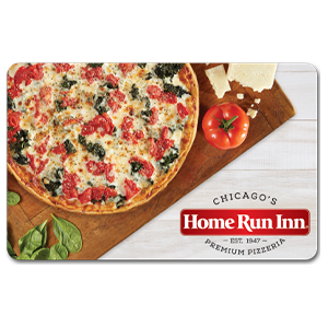 Home Run Inn Gift Card with Laura's Favorite Pizza on the Cover