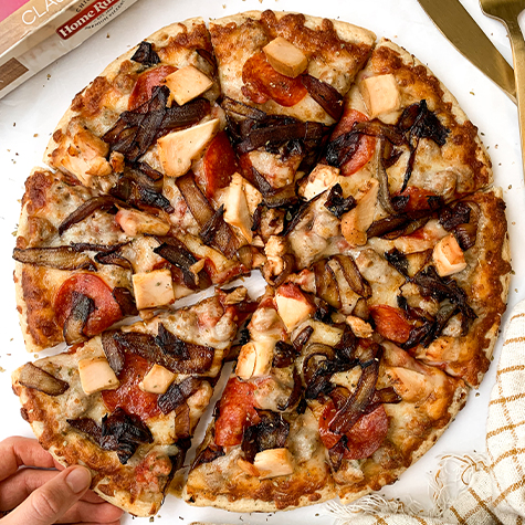 balsamic caramelized onions and chicken pizza recipe